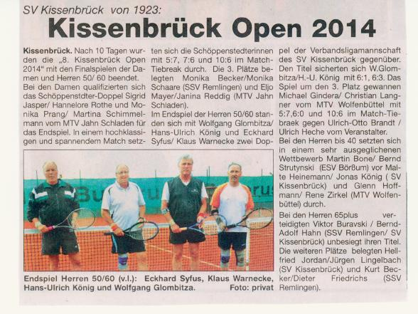 Kissenbrück Open 2014